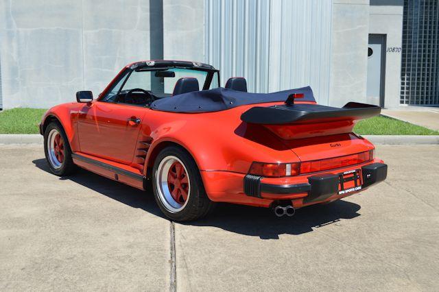 1988 Porsche 911 Turbo Cabriolet Slant Nose Guards Red / Blue