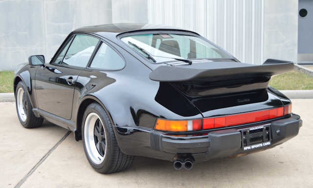1989 Porsche 911 Turbo Black / Black