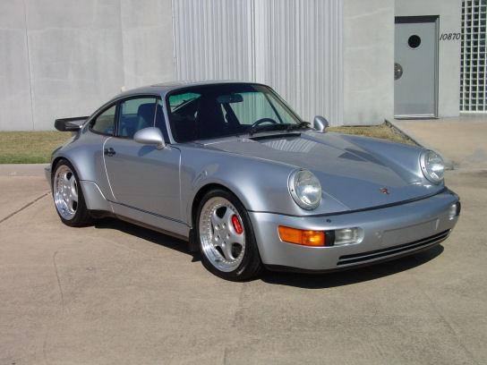 1994 Porsche 911 3.6 Turbo Polar Silver / Marine Blue