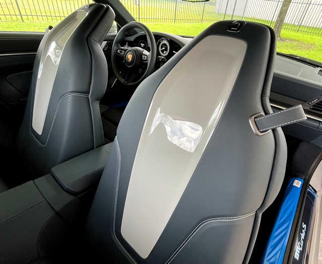 2021 Porsche 911 Turbo S Chalk /  Graphite blue