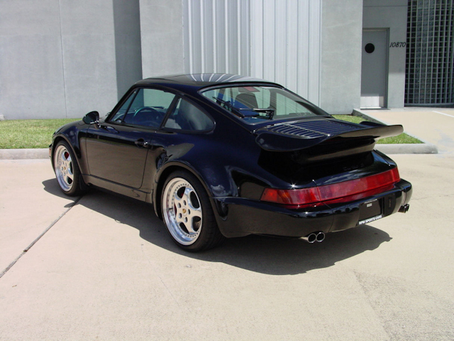 "1994 Porsche 911 3.6 Turbo ""S"" Flat Nose, Black / Black"